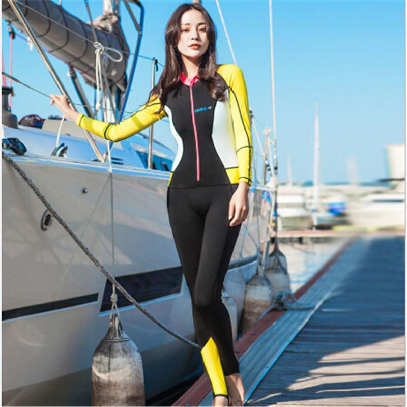 ca805052a06 6514 items found in Wetsuits. Luoke Connected Whole Body Sunscreen  Quick-drying Yellow Swimsuit Snorkeling Suit Swimming Suit Anti-