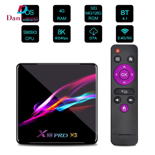 Bảng giá Bộ Mạng 1 Mảnh HD-Bộ Chuyển Đổi Tín Hiệu Chất Liệu Nhựa ABS X88 Pro X3 TV Box Tần Số Kép Wifi Android 9.0 8K Phong Vũ