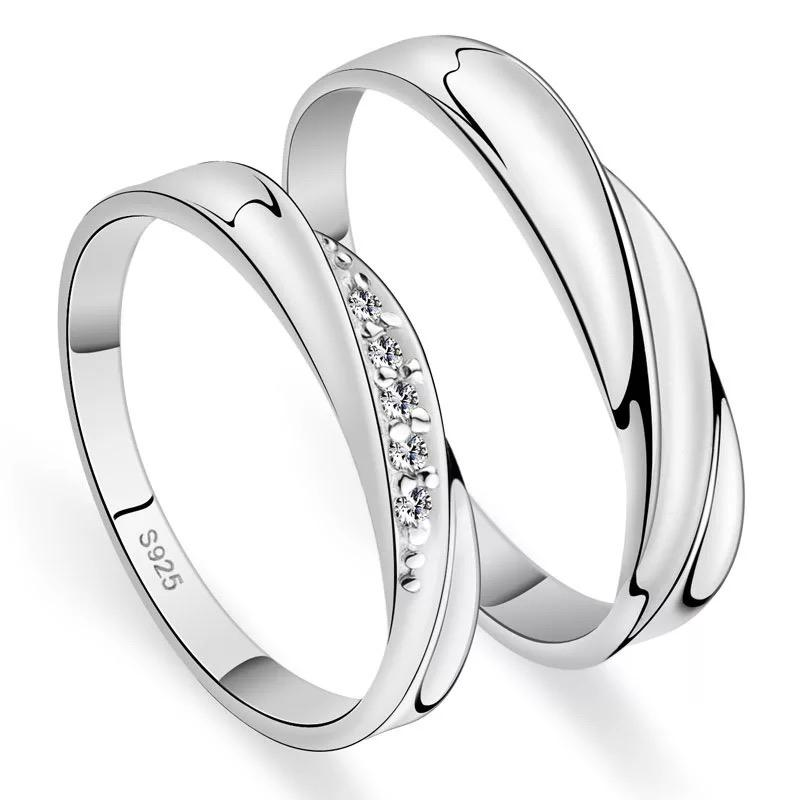 MFJewelry Sterling Silver Set of 2 Couple Adjustable Ring 9c9992949b