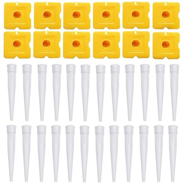 36 Pieces Caulking Tool Kit Sealant Finishing Tool Cartridge Spare Nozzles Caulk Nozzles Caps Set