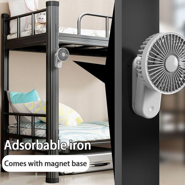 Lolipods New Magnetic Clip Fan Mini Cooling Fan USB Desktop Air Conditioning Fan Rechargeable Convenient Small Fan Portable Mini Hand Fan Desktop Fan Charging Base Handy Fan 【Ready Stock】