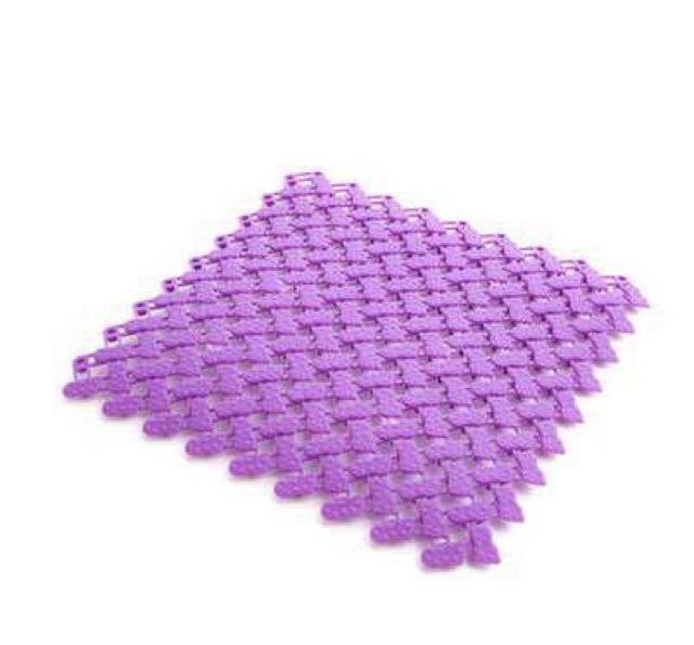 1pc Pvc Diy Feet Design Square Puzzle Pad Bathroom Toilet Mat By Lhs.ph.