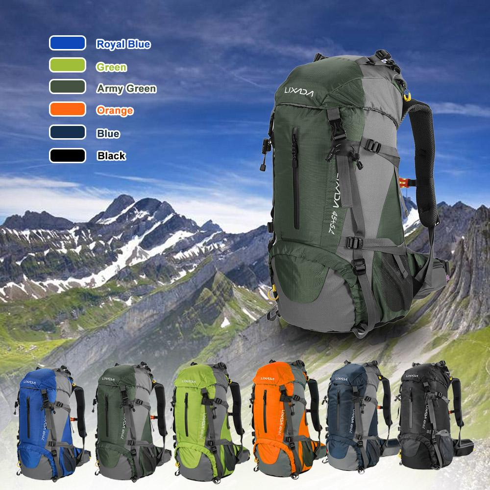 Lixada 50l Water Resistant Outdoor Sport Hiking Camping Travel Backpack Pack Mountaineering Climbing Backpacking Trekking Bag Knapsack With Rain Cover By Tongda Store.