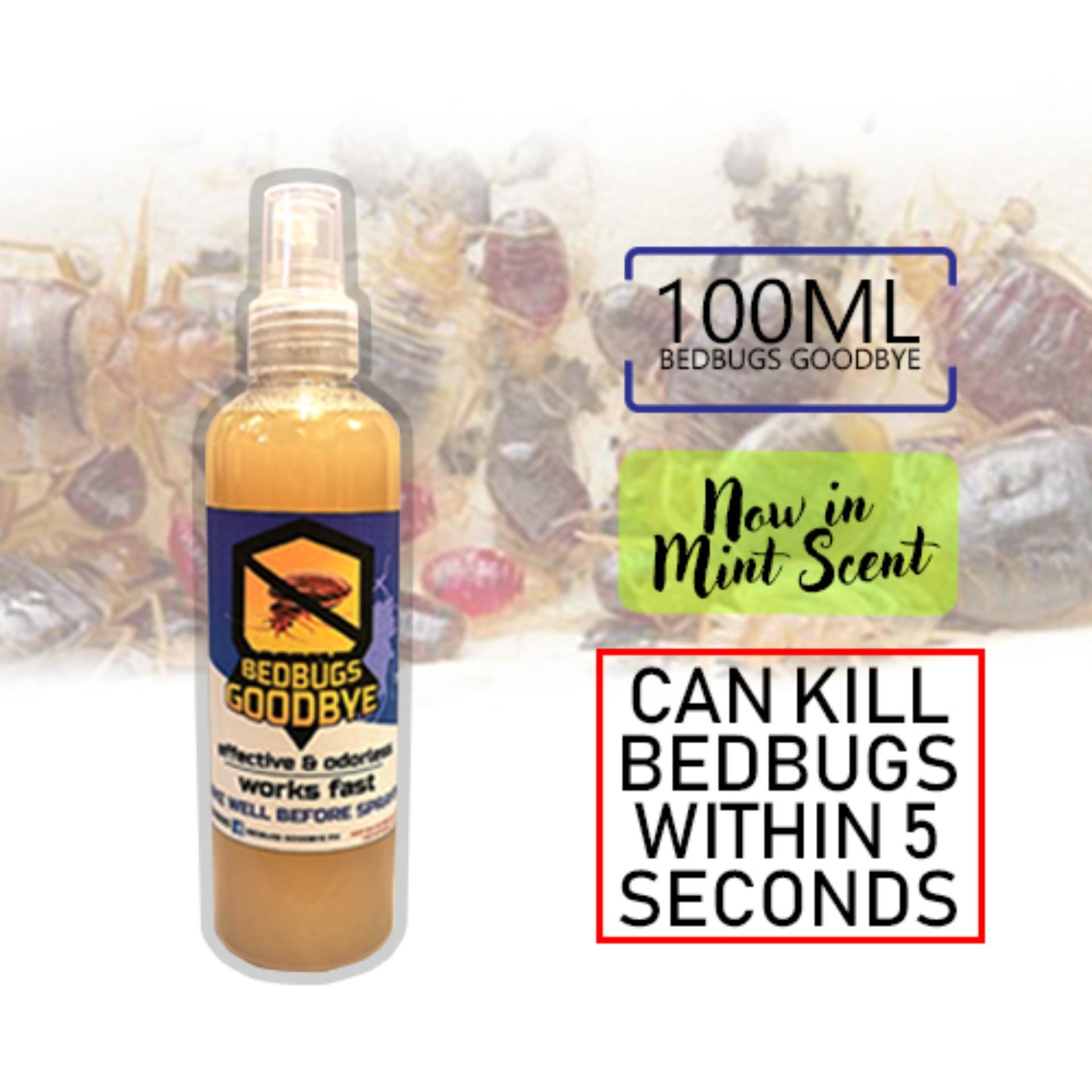 Bedbugs Goodbye Spray Natural Bed bugs Killer effective odorless 100ml