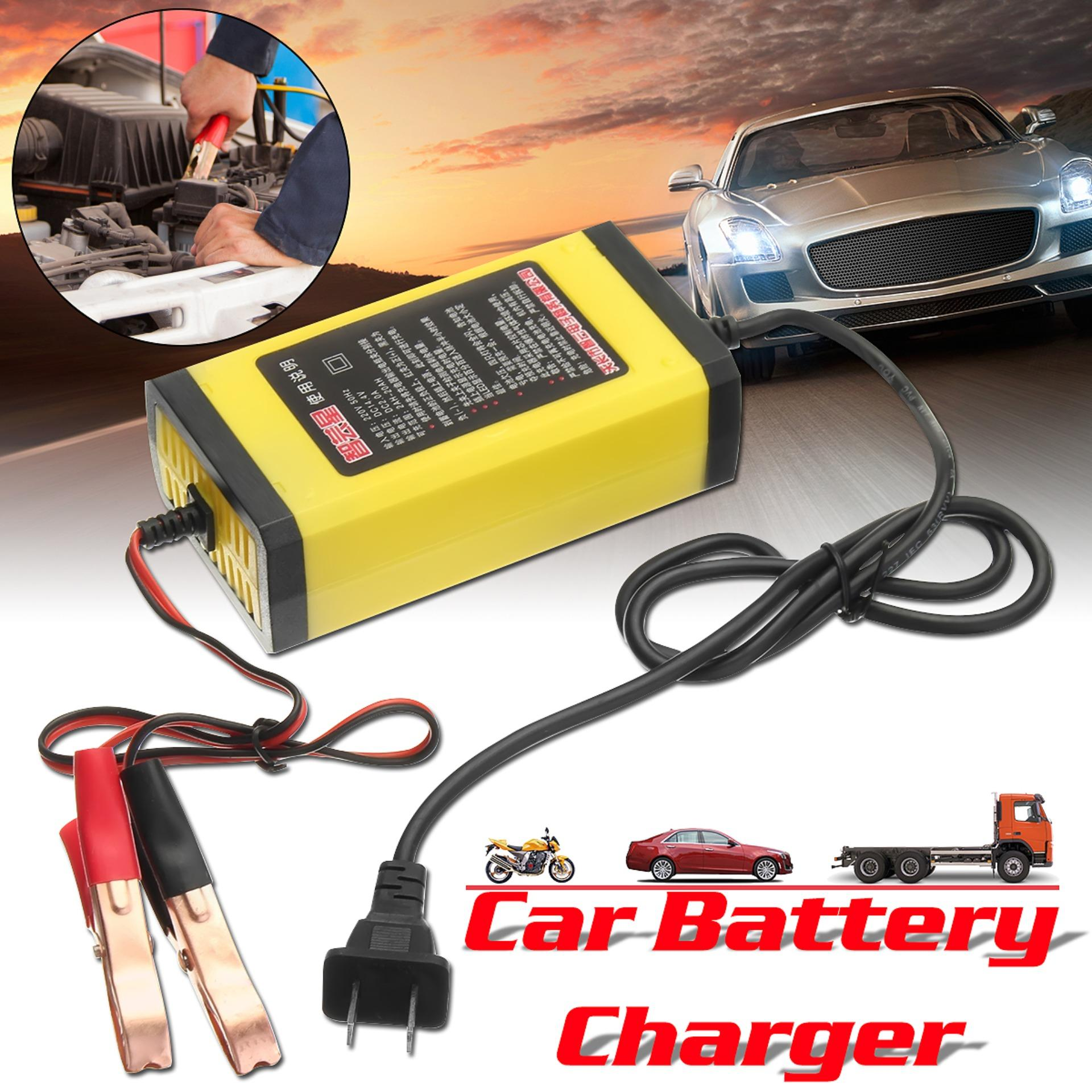 【free Shipping + Super Deal + Limited Offer】abs 12v 2ah-20ah Car Motorcycle Smart Automatic Battery Charger Maintainer - Intl By Teamtop.