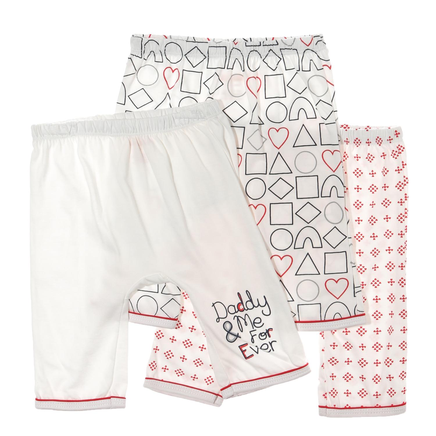 Hush Hush Baby Girls 3-Piece Shapes Drop-Crotch Pajama Set By The Sm Store.