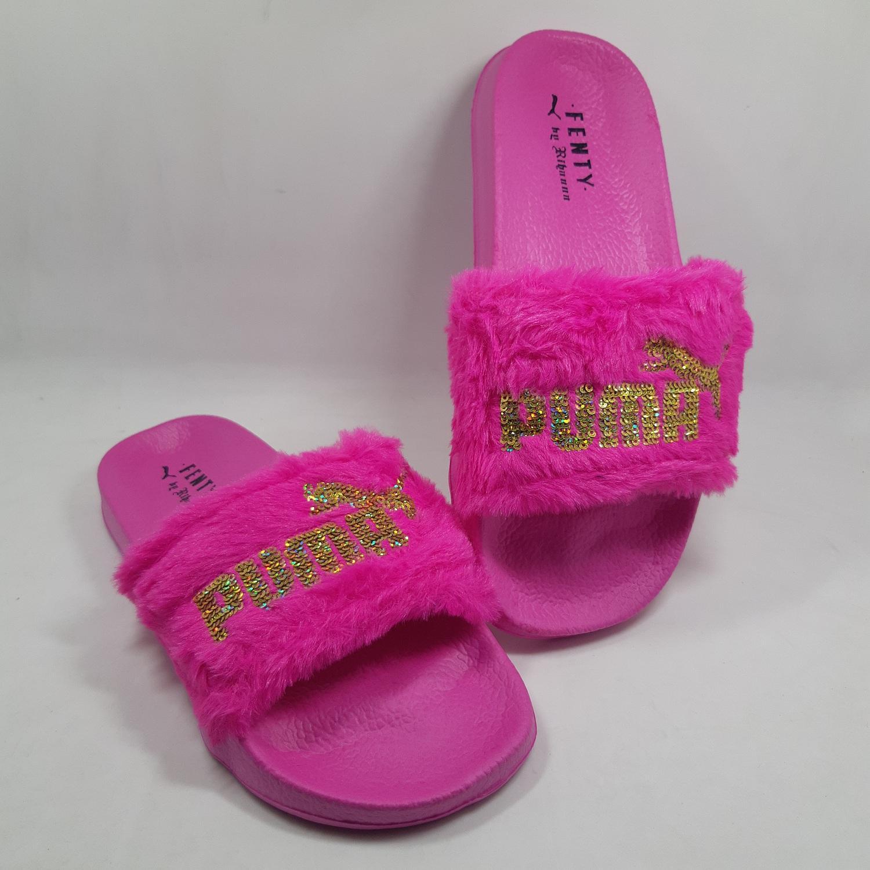 huge discount 34587 c6882 P U M A Fenty Fur Slides Trendy Casual Slippers for Women