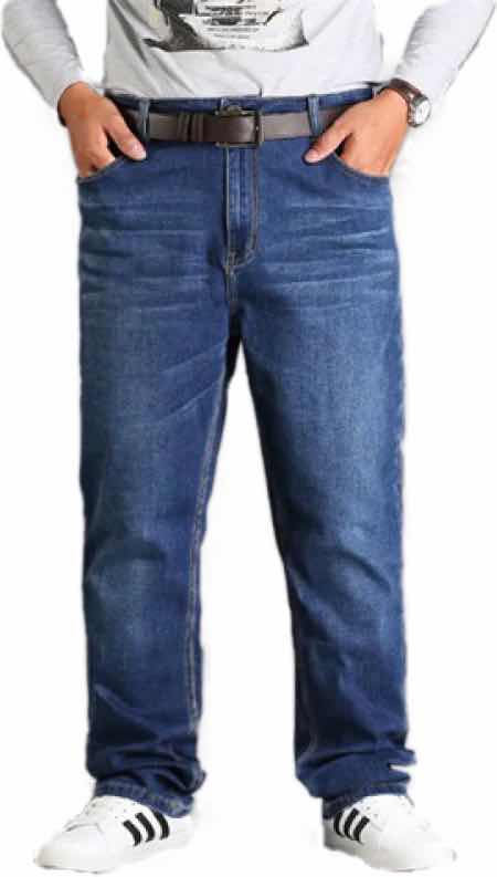 SIZE 36 44 Men's Slim Pants Plus Size Big Size