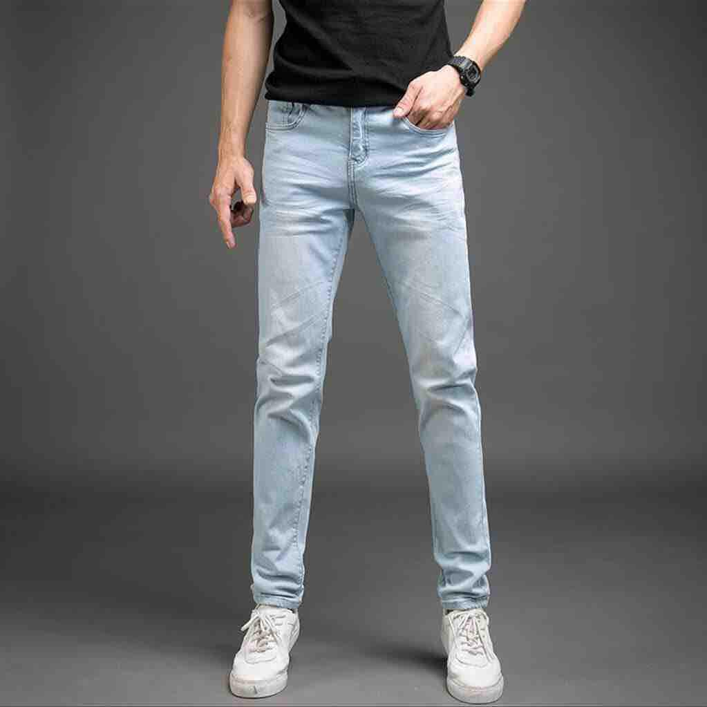0bde225e49a ALVIN  Light blue Jeans For Men Skinny Stretchable Pants
