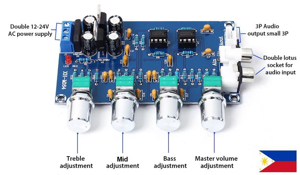 Tone control board NE5532