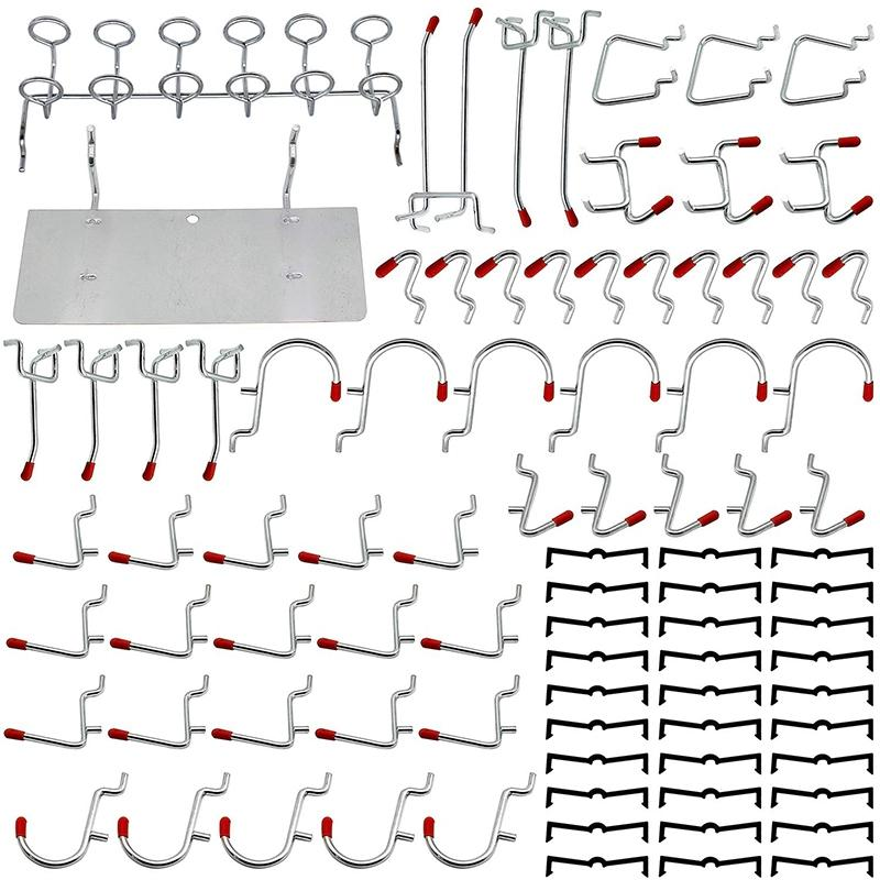86 Piece Pegboard Hooks Organizer Assortment with Metal Hooks,Pegboard Bins and Peg Locks