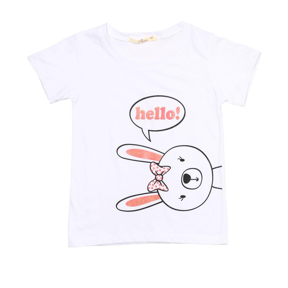 Justees Toddler Girls Bunny Tee In White By The Sm Store.