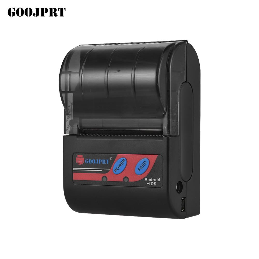 Goojprt MTP-II Portable 58mm Thermal Printer Handheld Mini Receipt Printer  80mm/s Print Speed for IOS Android Windows System