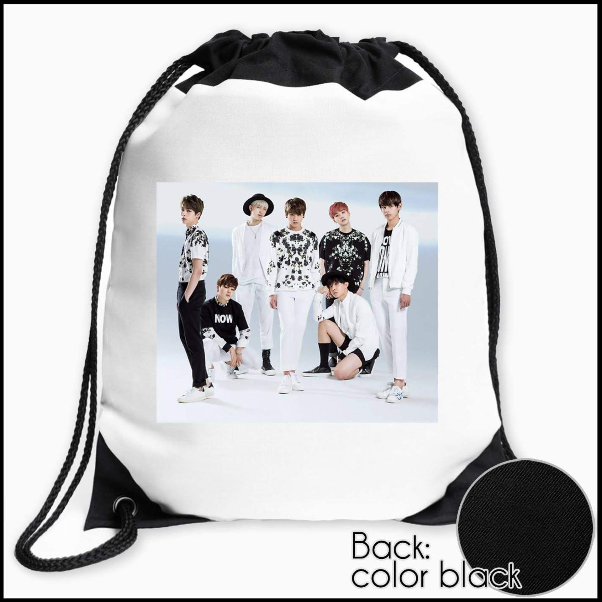 Original Customizable Drawstring Bag String Backpack BTS Design for  Travel