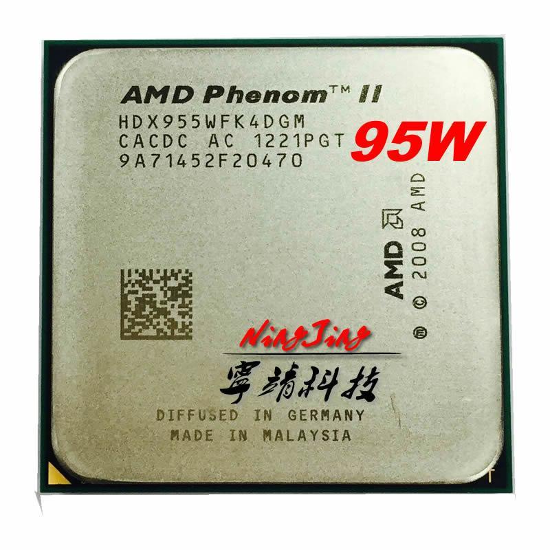 AMD Phenom II X4 955 3.2 GHz 95w Quad-Core CPU Processor HDX955WFK4DGM Socket AM3 YKQ Store