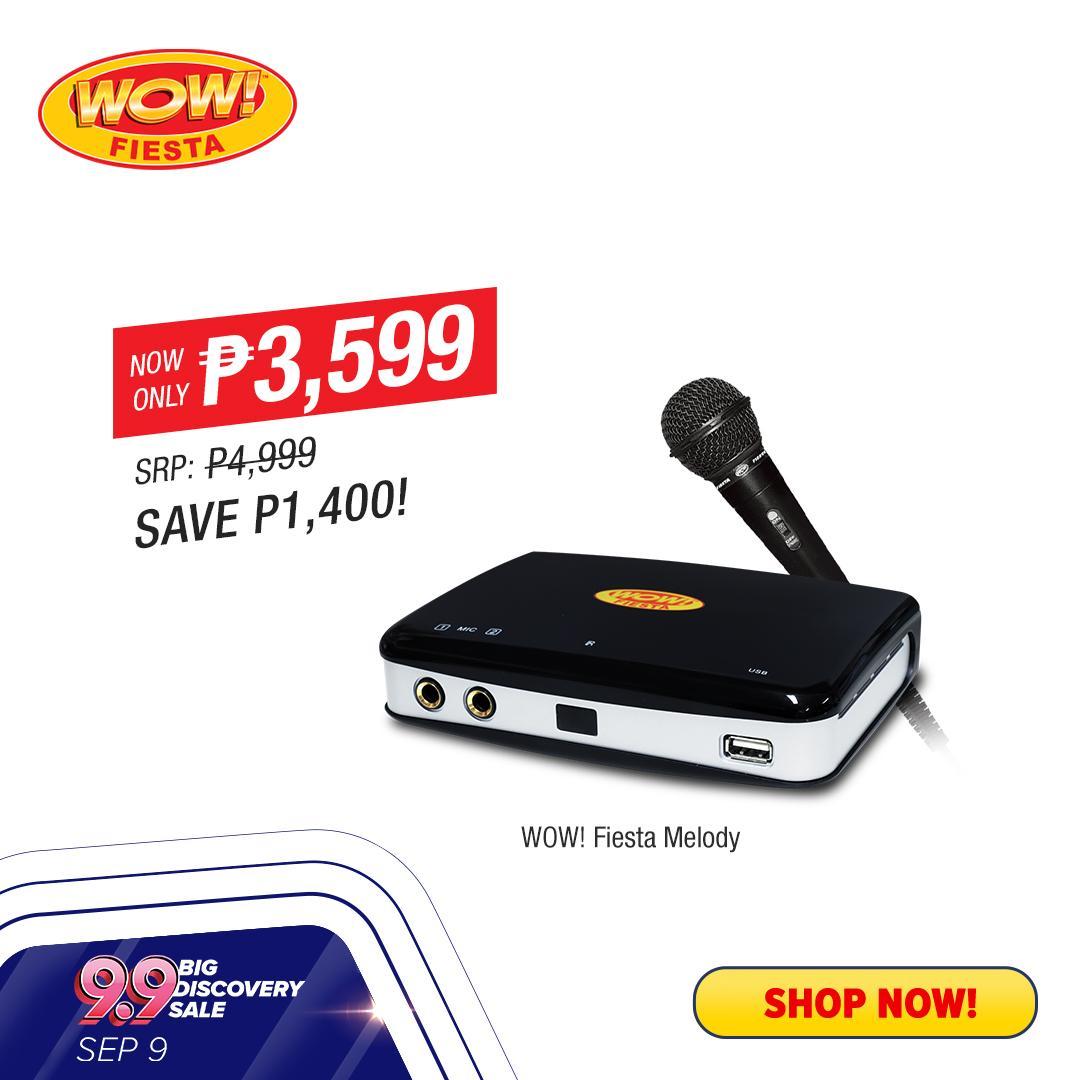 WOW! Fiesta Melody - Ang Pambansang Videoke (Portable Karaoke Player w/  Unli Song Expansion, Free Mic & USB)