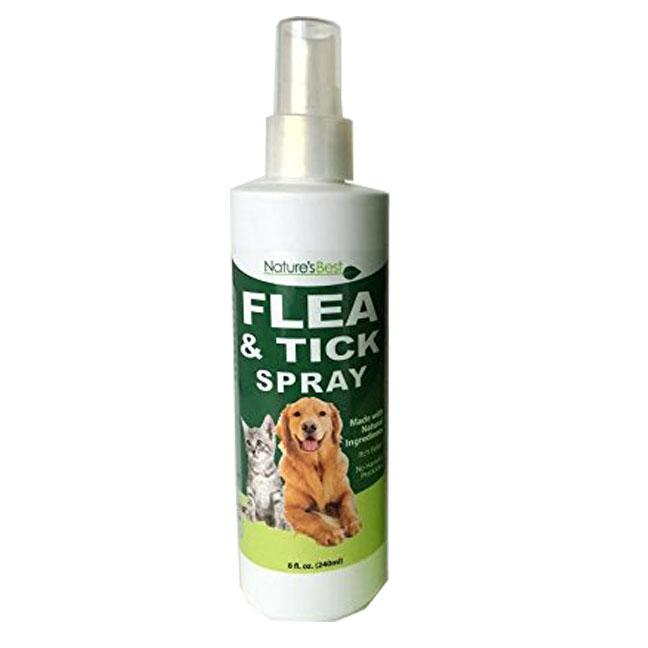 Natures Best Natural Flea Tick Spray Dogs Cats Insect Repellent 8oz