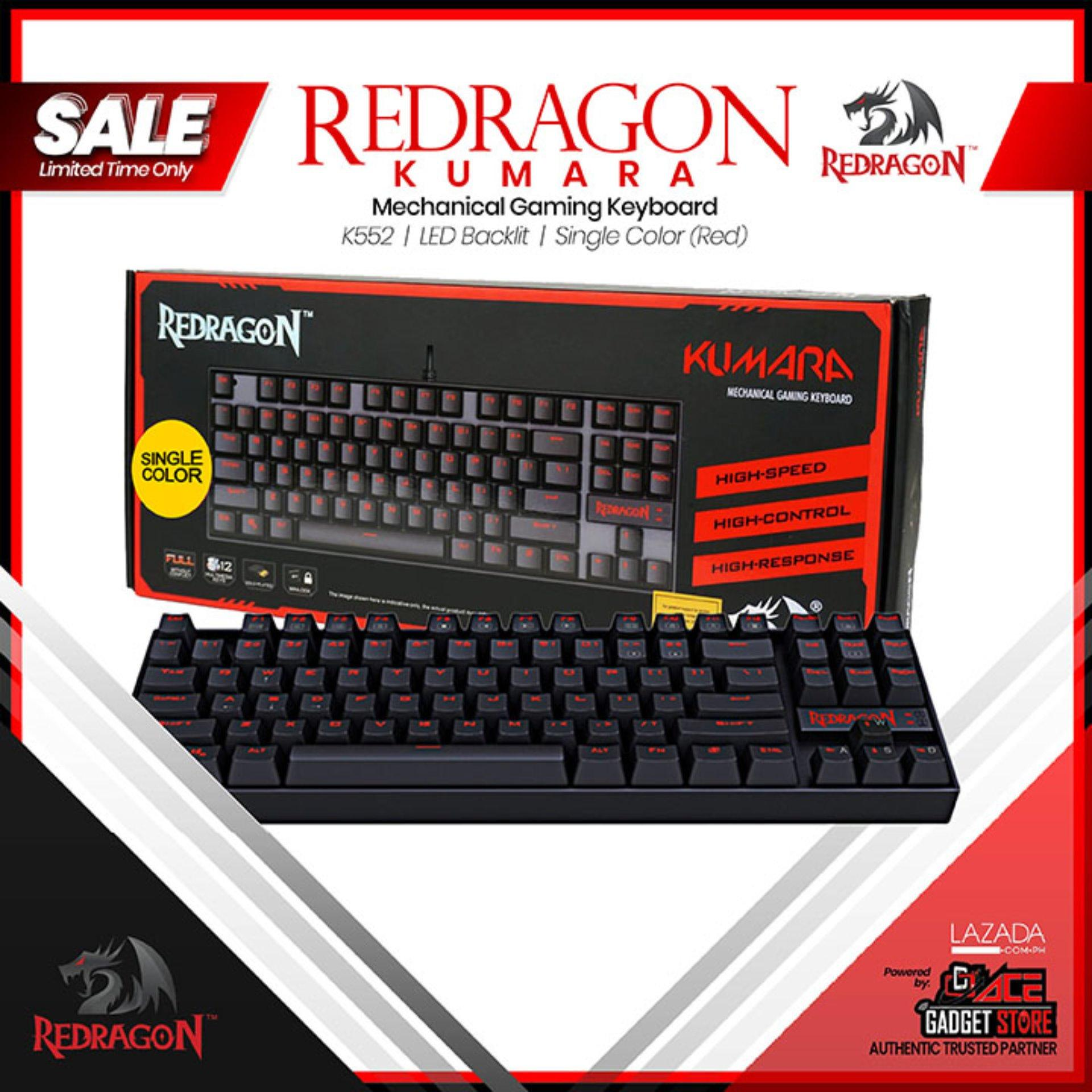 b00253e8a8e Redragon K552 KUMARA LED Backlit Mechanical Gaming Keyboard Single Color  Backlit (Red)