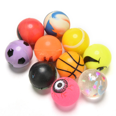 10pcs 27mm Bouncy Jet Balls Kids Toy Party Color Bag Fillers Play Parts - Intl By A Mango.