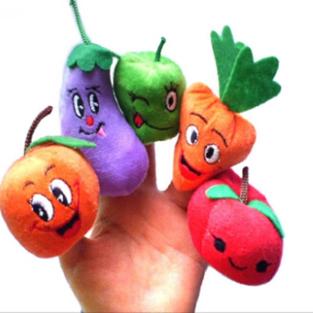 10PCS Christmas Fruits Vegetables Storytelling Props Finger Puppet Kids Children Toys product preview, discount at cheapest price