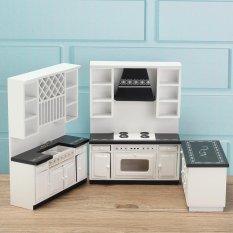 1 12 Barbie Props Mini Furniture Model Heavy Black White Kitchen Kit Intl
