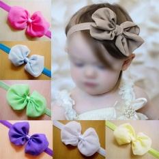 12pcs Kid Baby Girl Toddler Cute Chiffon Bowknot Headband HairBand Headwear - intl
