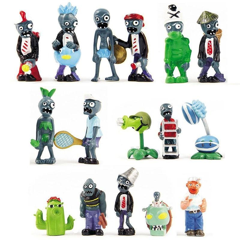 Rebirth 16x Plants Vs Zombies Toys Series Game Role Figure Display Toy PVC - intlPHP921. PHP 960