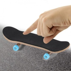 1pc Maple Wooden+alloy Fingerboard Finger Skateboard With Box Reduce Pressure Gifts (light Blue) - Intl By Highfly.