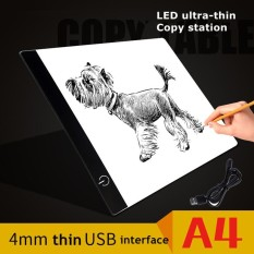 PHP 836. 1PCS A4 LED Artist Thin Art Stencil Drawing Board Light Draw Led Light Pad Drawing Tracing Tracer Copy Board Table ...