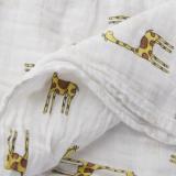 1Pcs Muslin Cotton Blanket Newborn Baby Blanket Swaddle Bath Towel Giraffe - thumbnail 5