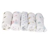 1Pcs Muslin Cotton Blanket Newborn Baby Blanket Swaddle Bath Towel Giraffe - thumbnail 3