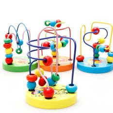 1pcs Roller Coaster Toys For Kids Child Wooden Abacus Toys Round Moving Beads Toy Baby Learning Early Education Wooden Maze - Intl By Smilewill Store.