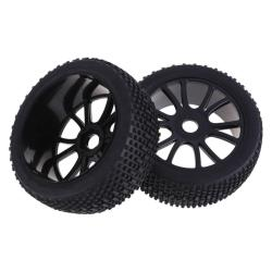 2 Pcs. Sponge Liner Tyre Tires Wheel for HSP 1:8 RC Off-Road Buggy 84B-801 (Black)