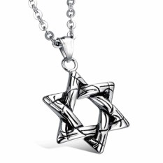2016 Mens Womens Fashion Retro Stainless Steel Necklace With Pendant(3 Style) - Intl By Doxiy.