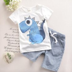 2017 New Toddler Boys Clothing Children Summer Boys Clothes Cartoon Kids Boy Clothing Set T-