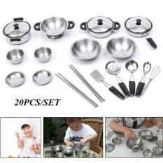 20pcs Stainless Steel Mini Play House Kitchen Model Cookware Kid Toy Xmas Gift - Intl By Teamwin.