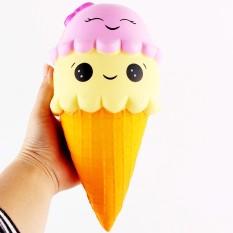 In Design; 1pcs Cute Banana Squishy Super Slow Rising Jumbo Simulation Fruit Phone Straps Soft Cream Scented Bread Cake Kid Fun Toy Gift Novel