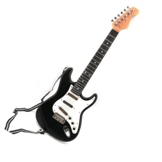 25inch Children's Electric Guitar 6 Strings For kids Musical Toys Guitar Gifts(color:Black