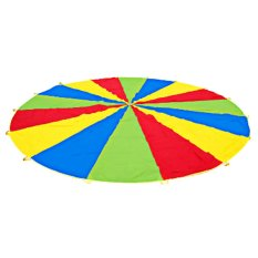 2m Kid Sports Development Outdoor Rainbow Umbrella Parachute Toy By Welcomehome.