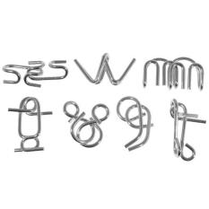 360DSC Metal Iron Brain Puzzles IQ Teaser (7-Set)