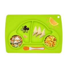 38cm*25cm New Children Utensil Mats Heat Resistent Silicone Car Shaped Placemat For Baby Kids