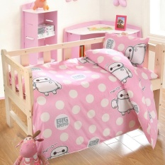 3pcs/set Cartoon Baby Crib Bedding Sets Soft Cotton Bed Linen Durable Duvet  Cover/