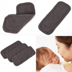 4 Layers Soft Reusable Born Baby Bamboo Charcoal Cotton Liners Cloth Diapers Black - Intl By Mimar Upup.