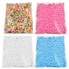 4 Packs Mini 4-8mm Dia Foam Decorative Balls For Gift Box Filler Diy Doll Toys Wish Bottle Pillow Filler Homemade Slime Kids Craft Wedding Party Decoration Arts Accessories By Jelly Store.