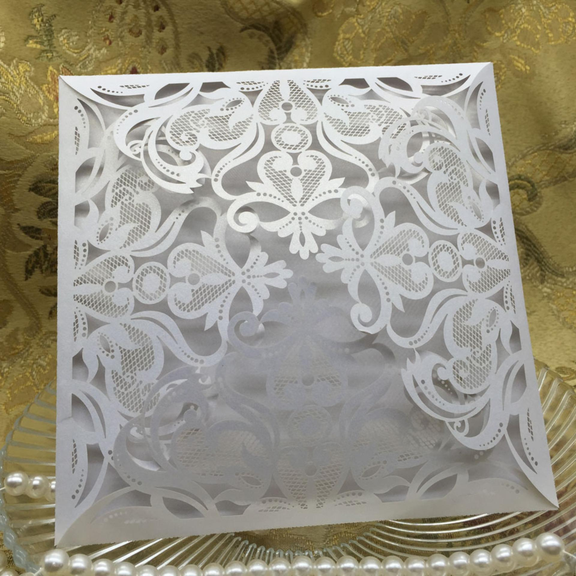 40pcs Set European Carved Pattern Wedding Invitation Card Hollow Out Crafts Cards For Party