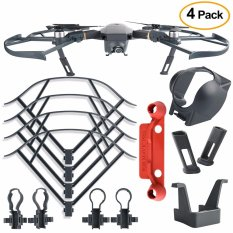 4pcs Protection Accessories Kits For Dji Mavic Pro, Including Landing Gear Extender, Lens Hood Gimbal Guard, Quick Release Propeller Prop Guard And Remote Controller Stick Thumb Protective Clip - Intl By Webster.