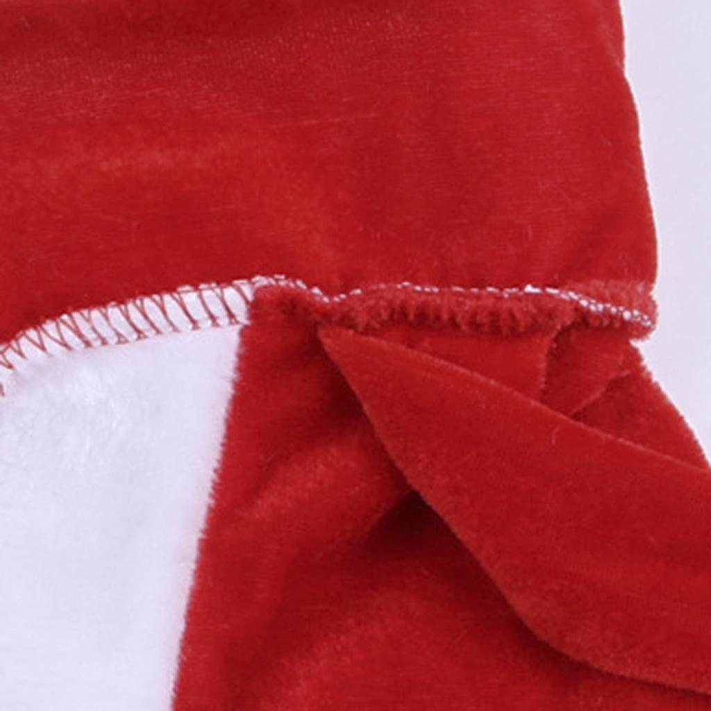 5pcs Adult Men Christmas Santa Claus Costume Suit Outfit One Size - thumbnail