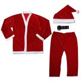 5pcs Adult Men Christmas Santa Claus Costume Suit Outfit One Size - thumbnail 4