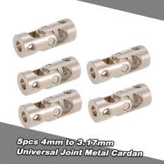 5pcs Stainless Steel 4 To 3.17mm Full Metal Universal Joint Cardan Couplings For Rc Car And Boat D90 Scx10 Rc4wd - Intl By Outdoorfree.