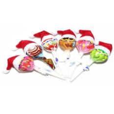 1743f0183379c Mecola 6pcs Mini Santa Claus Hat Christmas Xmas Holiday Lollipop Top Topper  Decor - intl